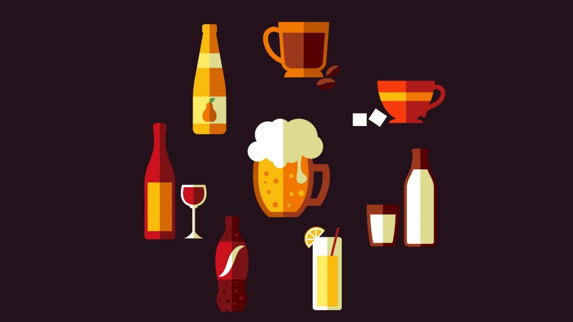 coffee tea cider beer trivia quiz vector